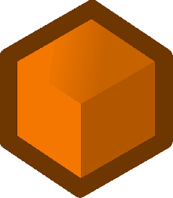 box, flat, icon, orange, cube, shape, cubes, shapes