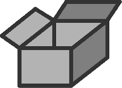 box, flat, open, package, storage, theme, icon
