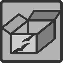 box, flat, open, package, theme, icon
