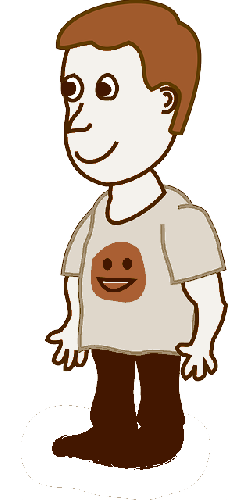 boy, kid, character, human, cartoon, stand, comic