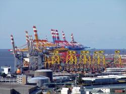 bremerhaven, port, container terminal, large, industry