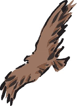 brown, bird, flying, wings, art, animal, feathers, fly