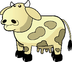 brown, cartoon, farm, cow, dairy, cream, colored, with