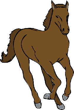 brown, cartoon, horse, animal, mammal, equine, hooves