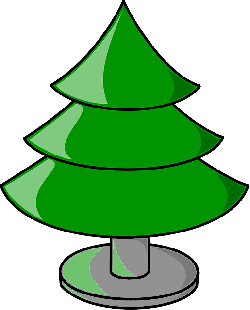 brown, green, outline, tree, cartoon, empty, base