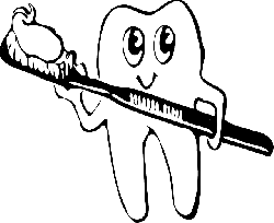brush, cartoon, toothbrush, free, hair, smile, teeth