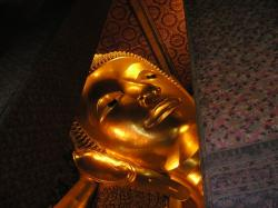 buddha, head, gold, huge, large, thailand, southeast