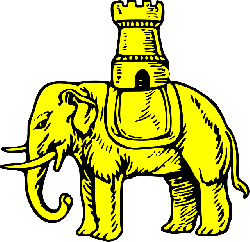 building, castle, shield, elephant, gold, coat, arms