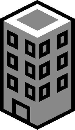 buildings, building, tower, city, flat, icon, small