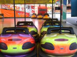 bumper cars, year market, fair, munich, colorful