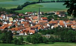 burglauer, germany, landscape, town, village, trees
