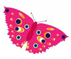 butterfly, clipart, pink, right, colorful, beautiful