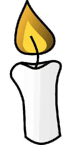 candle, flame, burn, light source, gray, yellow