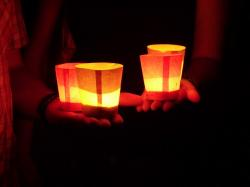 candles, hand, keep, connectedness, love, romance