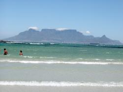 cape town, table mountain, south africa, ocean, sand