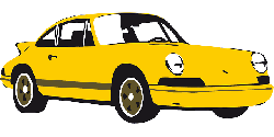 car, porsche, sports car, yellow