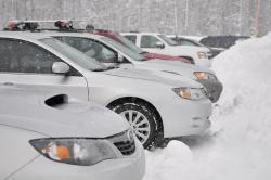 cars, snow, winter, travel, auto, outside, trees, car