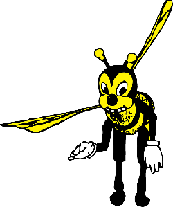 cartoon, bee, bug, bending, insect, bowing, bees, bow
