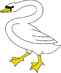 cartoon, bird, flying, swim, swan, goose, animal, lake