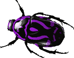 cartoon, purple, bugs, bug, insect, beetle, insects