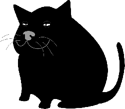 cat, black, large, color, fat, pet, animal, whiskers