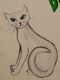 cat, drawing, picture, painting, animal, graffiti