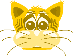 cat, head, face, cartoon, tiger, sad, emotion, whiskers