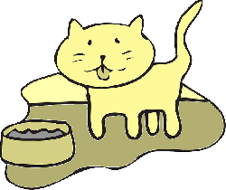 cat, water, simple, bowl, art, pet, animal, and