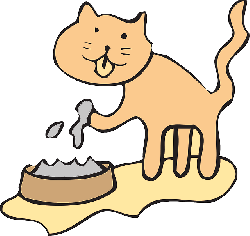 cat, water, simple, bowl, drinking, art, paw, pet