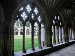 cathedral, cloister, building, church, monastery