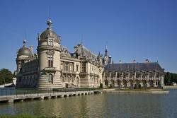 chateau chantilly, closed, castle, chantilly, moat