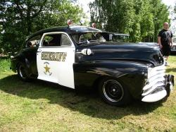 chevrolet, sheriff, car, exhibition, grass, tree, black