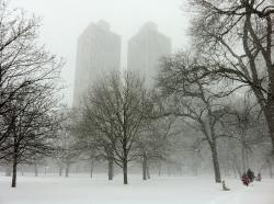 chicago, illinois, city, cities, winter, snow, snowing