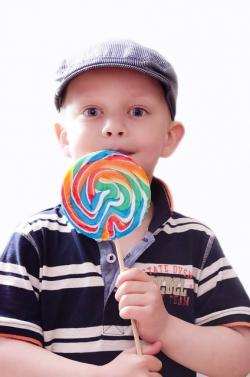 child, kid, boy, snack, lollypops, lollipop, rainbow