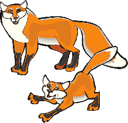 child, white, orange, fox, parent, art, animal, tail