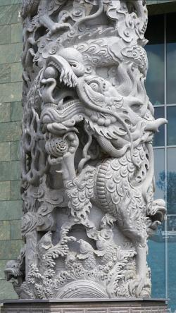 chinese, architecture, column