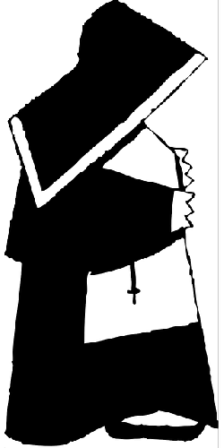 church, black, woman, white, cartoon, religion, nun