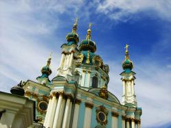 church, kiev, religion, st  andrew' cathedral
