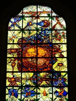 church window, window, church, glass, color