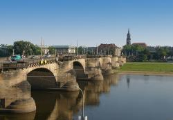 city, view, town, bridge, river, water, architecture