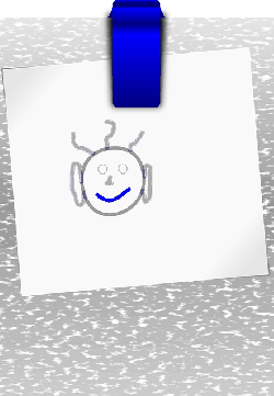 clipboard, board, paper, clip, painting, face, man