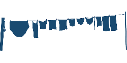 clothesline, clothes, dry, silhouette, wash, blue