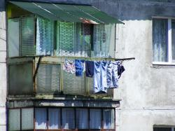 clothesline, drying, hanging, laundry, outside, poverty