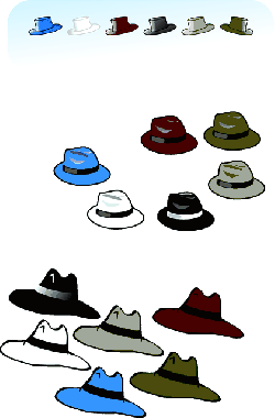 clothing, hat, six, hats, cloths