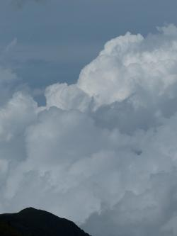 clouds, cloud mountain, sky, cloud tower, thundercloud