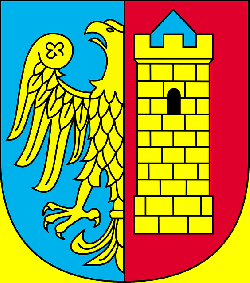 coat of arms, crest, poland, eagle, tower