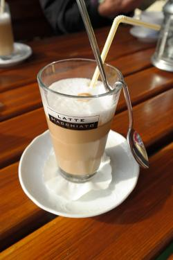 coffee, latte macchiato, milchschaum, warm, delicious
