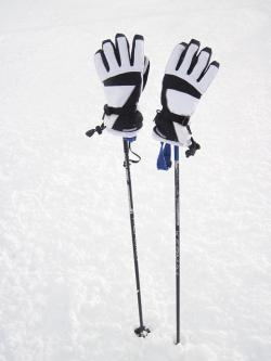 cold, equipment, gloves, hand, ice, pole, poles, season