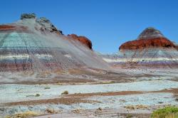 colorful, petrified forest national park, arizona, usa