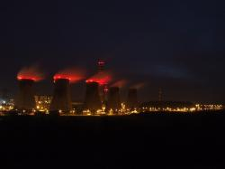 combined heat and power plant, chimneys, smoke